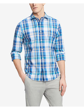 Men's Classic Fit Sonny Plaid Shirt, Created For Macy's by Tommy Hilfiger