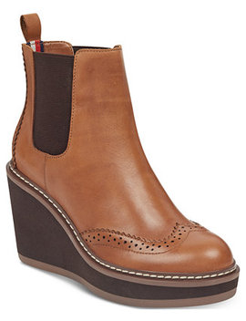 Sirina Platform Wedge Booties by Tommy Hilfiger