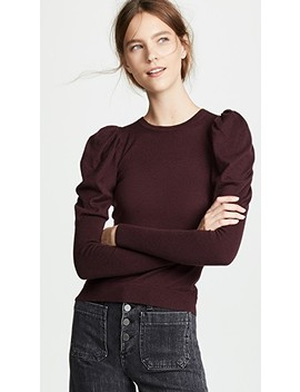 Juliet Sleeve Cashmere Crew Sweater by Autumn Cashmere