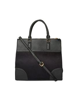 Dorothy Perkins   Black Double Zip Oversize Tote Bag by Dorothy Perkins