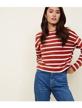 Rust Stripe Chenille Jumper by New Look