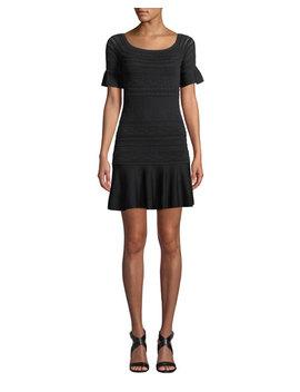 Maila Short Sleeve Knit Flounce Dress by Alexis