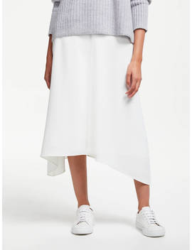 John Lewis & Partners Asymmetric Fluid Skirt, Ivory by John Lewis & Partners