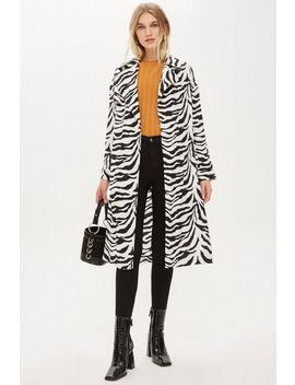 Zebra Print Duster Jacket by Topshop