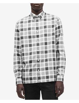 Men's Flannel Buffalo Plaid Shirt by Calvin Klein