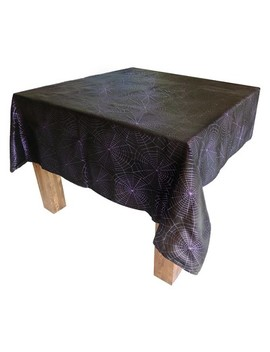 "60""X84"" Dark Wonder Metallic Fabric Table Cloth Black/Purple   Hyde And Eek! Boutique™ by Shop This Collection"