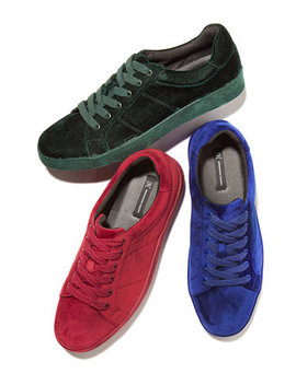 I.N.C. Men's Brogan Velvet Lace Up Sneakers, Created For Macy's by Inc International Concepts