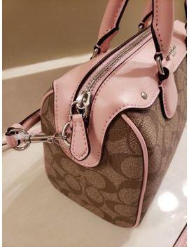 *Nwt**Coach*Kh<Wbr>Aki Signature /Blush Pink Mini Bennet Satchel /Crossbody Bag, $295 by Coach