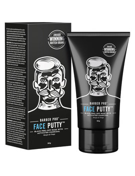 Barber Pro Face Putty Black Peel Off Mask 90g Tube by Look Fantastic