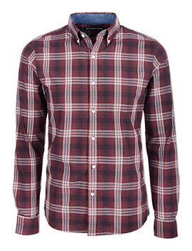 Men's Slim Fit Plaid Shirt by Michael Kors