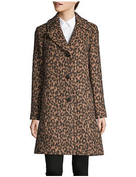 Printed Notch Collar Coat by Kate Spade New York