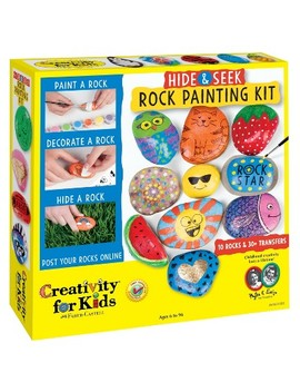 Hide & Seek Rock Painting Kit   Creativity For Kids by Creativity For Kids