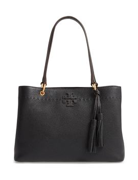Mc Graw Triple Compartment Leather Satchel by Tory Burch