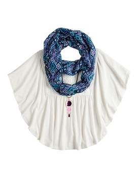 Girls 7 16 & Plus Size Self Esteem Circle Top Set With Scarf & Necklace by Kohl's