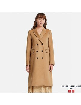 Damen Ines Woll Mix Mantel by Uniqlo