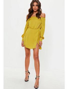 Yellow Bardot Mini Dress by Missguided