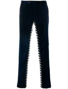 Pauralogo Velvet Slim Fit Trousershome Men Paura Clothing Skinny Pants by Paura