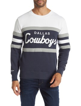 Dallas Cowboys Head Coach Crew Neck Sweater by Mitchell & Ness