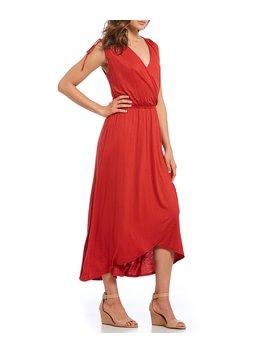 Wrap Style Midi Dress by Gibson & Latimer