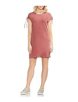 Lace Up Shoulder Shift Dress by Vince Camuto