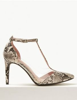 Perspex Stiletto Heel Court Shoes by Marks & Spencer