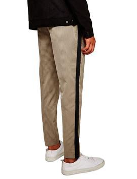 Slim Fit Pinstripe Jogger Pants by Topman