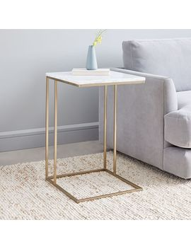 Streamline C Side Table   Marble by West Elm