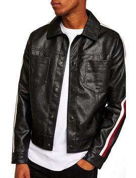 Faux Leather Western Jacket by Topman