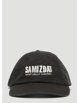 Samizdat Short Circuit Cap In Black by Yang Li Samizdat