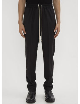 Track Pants In Black by Rick Owens
