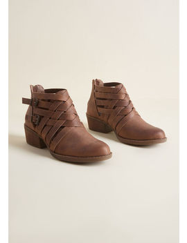 On The Edgy Strappy Bootie by Modcloth