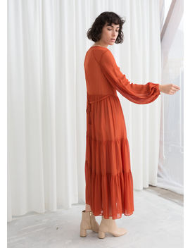 Ruffle Tier Maxi Dress by & Other Stories