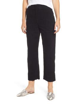 Elvie High Waist Crop Corduroy Trousers by Ag