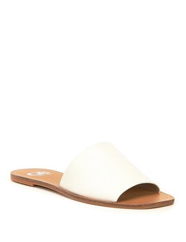 So Basic Leather Banded Slides by Gb