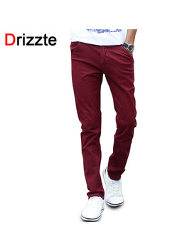 Mens Fashion Stretch Slim Casual Dress Chino Pants Business Trousers Red Black Blue Khaki 28 29 30 31 32 33 34 36 38 by Drizzte