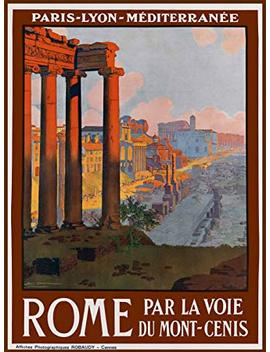A Slice In Time Rome Italia Italy Vintage European Travel Advertisement Collectible Wall Decor Poster Picture Print. Measures 10 X 13.5 Inches by A Slice In Time
