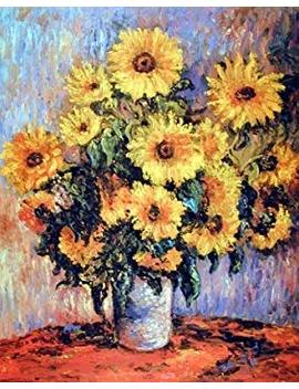 Claude Monet Sunflowers Wall Decor Art Print Poster (16x20) by Impact Posters Gallery