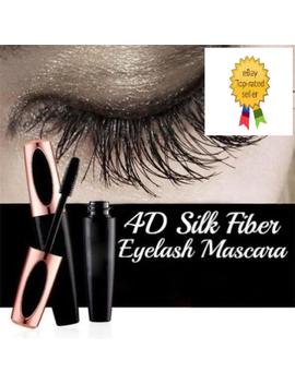 4 D Silk Fiber Eyelash Mascara Extension Makeup Black Waterproof Kit Eye Lashes by Unbranded