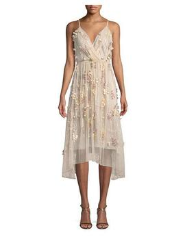 Lisandra Floral Applique Dress by Elie Tahari