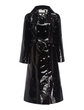Hooded Vinyl Trench Coat by Alexachung