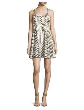 Geneva Printed Silk Mini Dress, Ivory by Cinq A Sept