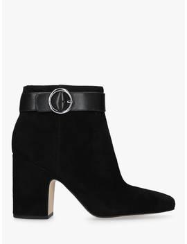 Michael Michael Kors Block Heel Buckle Ankle Boots, Black by Michael Kors