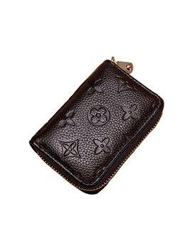 Women Rfid Blocking Credit Card Holder Wallet Men Leather Multi Zipper Purse by Lxj