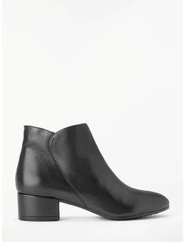 John Lewis & Partners Peony Ankle Boots, Black Leather by John Lewis & Partners