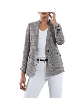 Reiss Libi Check Jacket, Grey/Multi by Reiss