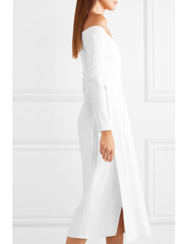 Layered Stretch Cady And Crepe Midi Dress by Mugler