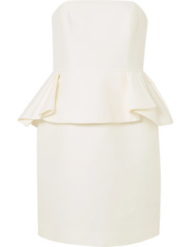 Cotton And Silk Blend Peplum Dress by Halston Heritage