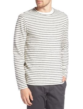 Stripe Cotton Blend Sweater by 1901