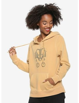 Harry Potter Faded Hufflepuff Girls Hoodie by Hot Topic