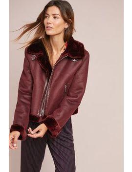 Faux Suede Moto Jacket by Ett:Twa